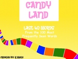 Candy Land Sight Word Game (Words 61-100)