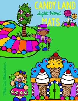 Candy Land Sight Word Mats: 1st Grade Edition