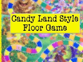Candy Land Style Floor Game