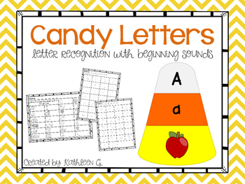 Candy Letters -Upper and Lowercase Matching with Initial Sound
