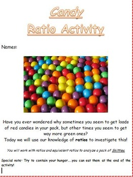 Candy Ratio Practice 6.RP.1