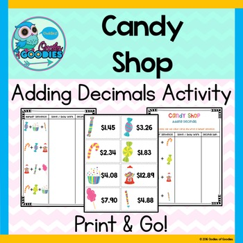 Candy Shop Adding Decimals