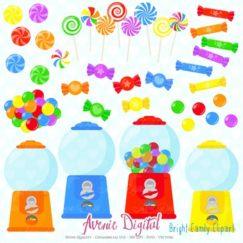 Candy Shop Clipart Scrapbook Commercial Use. Sweets candie