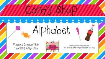 Candy Shop Themed Print Alphabet