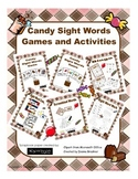 Candy Theme Sight Word Games and Activities for Kindergarten