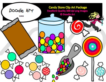 Candy Store Clipart Pack