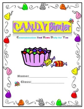 Candy {Sweets} Binder Cover