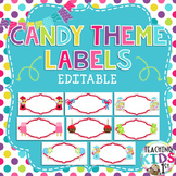 Candy Theme Editable Labels