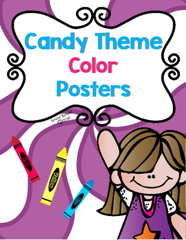 Candy Theme Color Posters