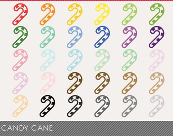 Candy cane Digital Clipart, Candy caneGraphics, Candy cane