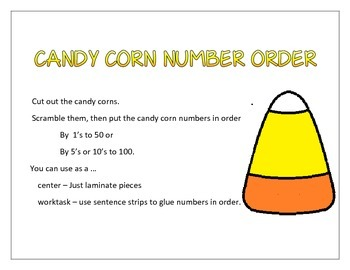 Candy corn count and order