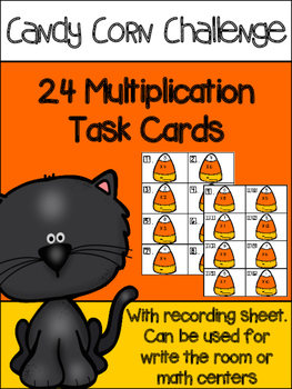 Candy corn multiplication task cards {freebie}