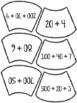 Candy corn number form puzzles
