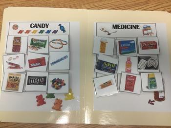 Candy or Medicine Sort- File Folder Acitivy