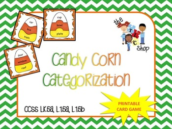 CandyCorn Categorization Game - Printable