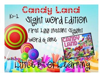 CandyLand Sight Word Edition K-1