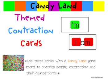 Candyland Cards - Studying Contractions
