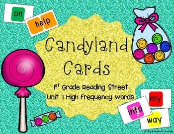 Candyland Cards - Unit 1 Sight Words (1st Grade Reading Street)