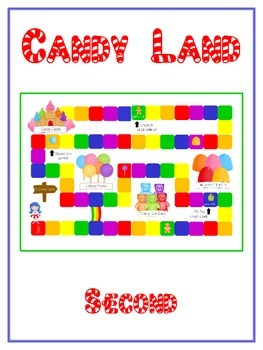Candyland Sight Word Folder Game - Dolch Word - Second Grade