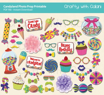 Candyland Themed Photo Prop Printable