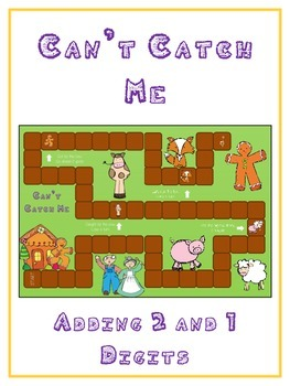 Can't Catch Me Math Folder Game - Common Core - Adding 2 a