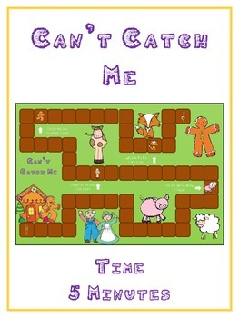 Can't Catch Me Math Folder Game - Common Core - Telling Ti