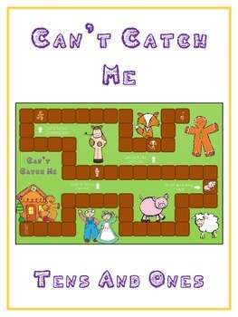 Can't Catch Me Math Folder Game - Common Core - Tens and O