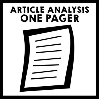 Article Analysis One Pager - Can't Live Without Erika Fort