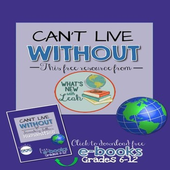 Can't Live Without It Social Studies Resource