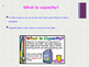 Capacity PowerPoint with Activity Worksheet