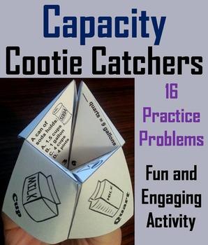 Capacity Practice Activity (Ounces, Cups, Pints, Quarts, G
