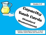 Capacity Task Cards Standard Measurement:Gallons, Quarts,