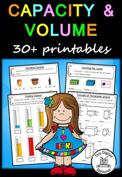 Capacity and Volume – 30+ worksheets