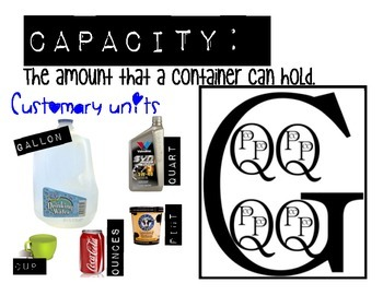Capacity and Volume Anchor Chart Freebie