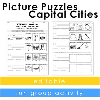 Vintage Puzzles - Capital Cities