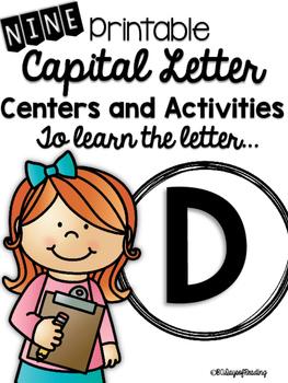 Capital Letter D Alphabet Center Activities