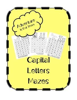 Capital Letter Mazes (26 Letters)