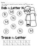 Capital Letter N Alphabet Center Activities