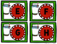 Capital Letter and Lower Case Letter Match Game - Christma