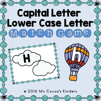 Capital Letter and Lower Case Letter Match Game - Hot Air