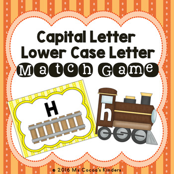 Capital Letter and Lower Case Letter Match Game - Trains
