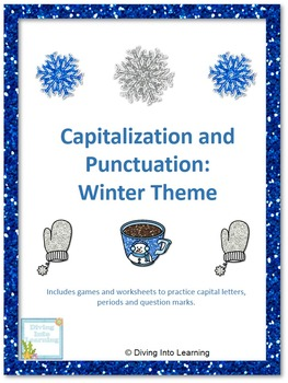 Capital Letters and Punctuation Packet: Winter Theme