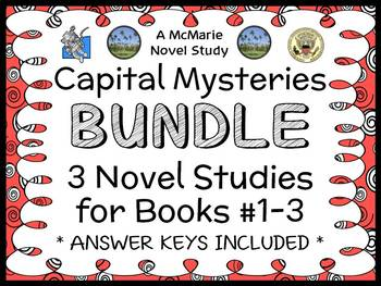 Capital Mysteries BUNDLE (Ron Roy) 3 Novel Studies for Boo