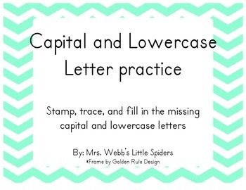 Capital and Lowercase Letter Practice