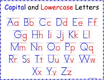 Capital and Lowercase Letters