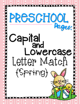 Capital and Lowercase Letter Match {Spring}