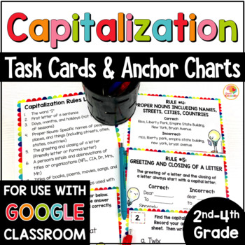 Capitalization Anchor Charts and Task Cards