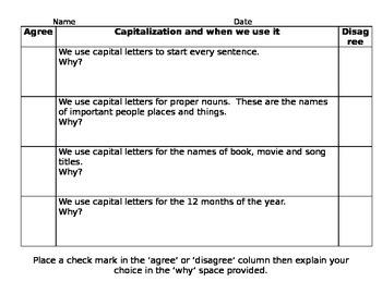 Capitalization Anticipatory Set
