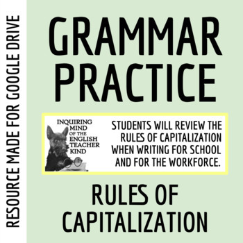 Capitalization Exercises Packet (Common Core Aligned)