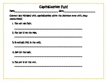 Capitalization Fun